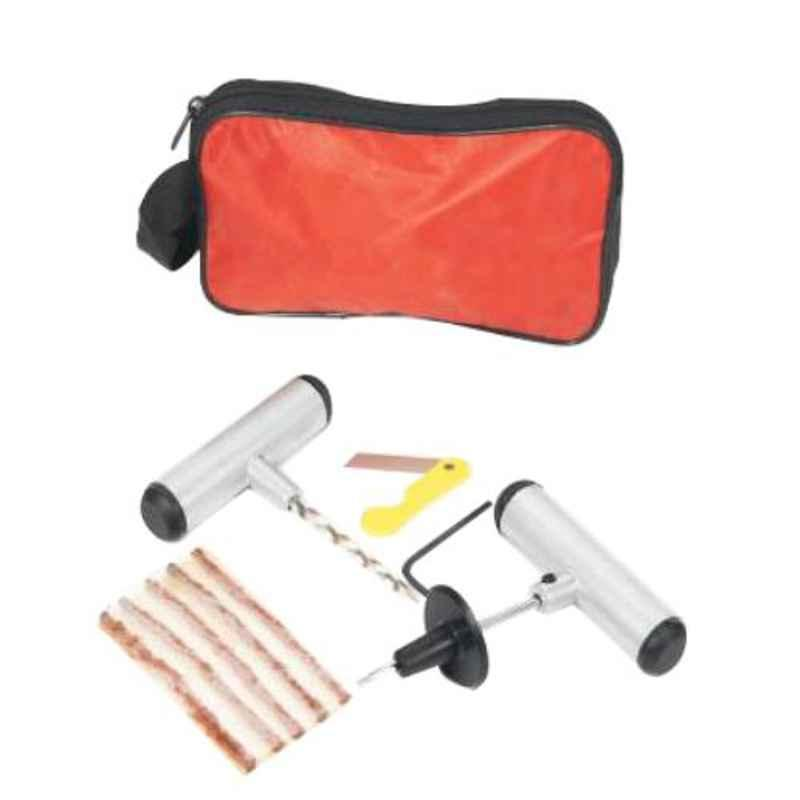 Love4ride Red Pouch Car & Bike Tubeless Tyre Puncture Repair Kit