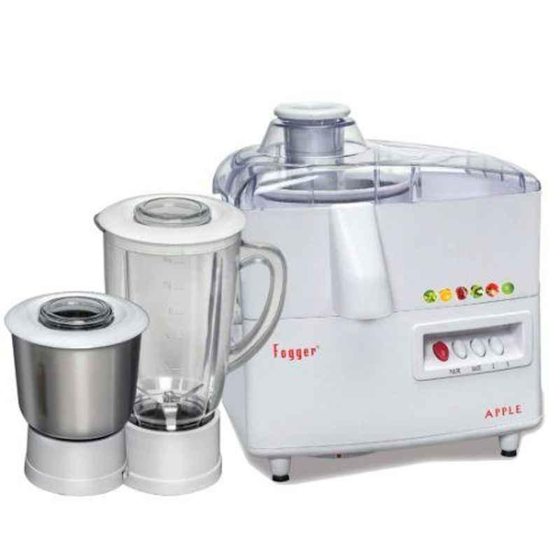 Fogger Apple 500W White Electric Juicer Mixer Grinder with 2 Jars