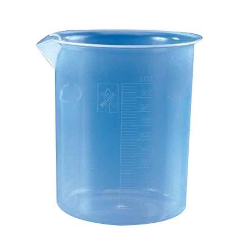 Polylab 5000ml Polypropylene Euro Design Beaker, 11117 (Pack of 2)