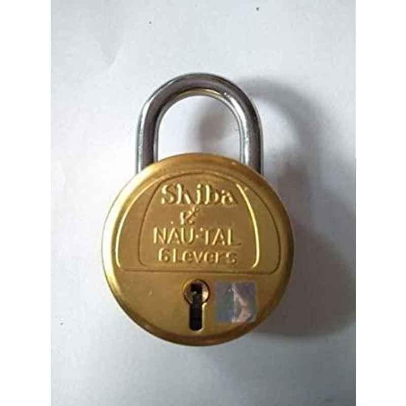 Smart Shophar 50mm Brass & Steel Yellow Bruno Nau-Ta Padlock, SLK18PD-BRUN-YL50-P1