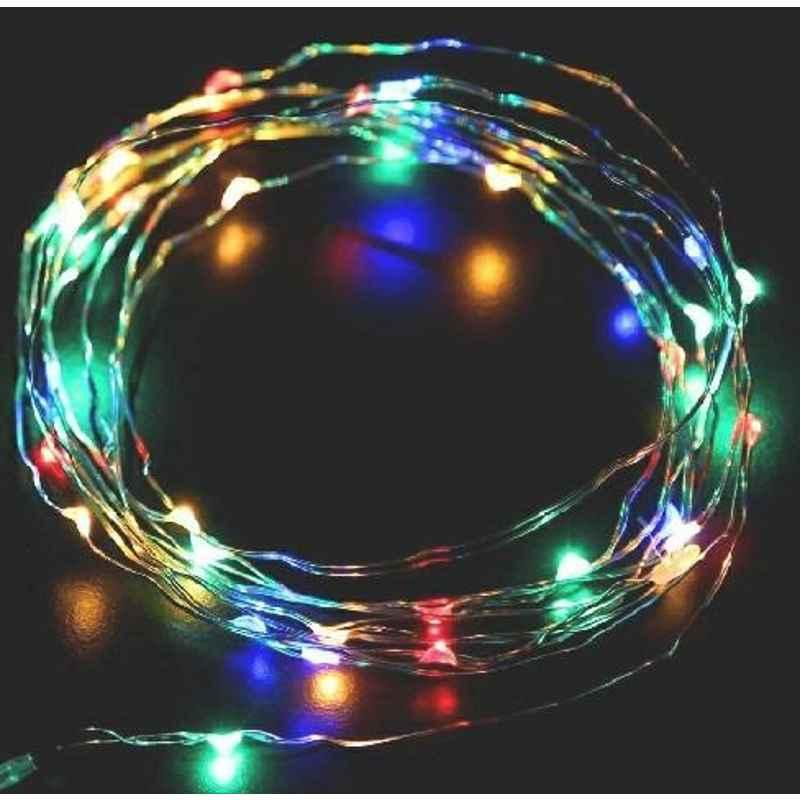 Tucasa DW-419 3m Battery Operated Multicolour LED Copper Wire String Light (Pack of 4)
