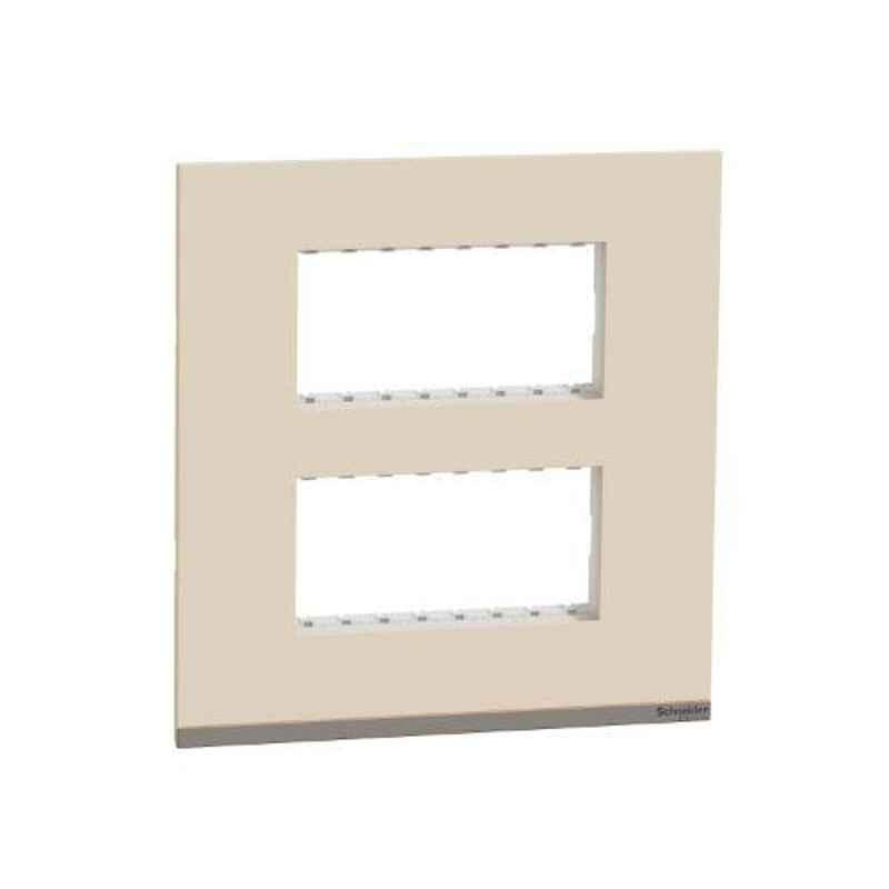 Schneider Unica Pure Plastic Surround Grid Plate, UNSCP8MSQ_CL (Pack of 5)