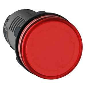 Schneider 22mm 110VAC Red Round LED Pilot Light with Screw Clamp Terminal, XA2EVF4LC