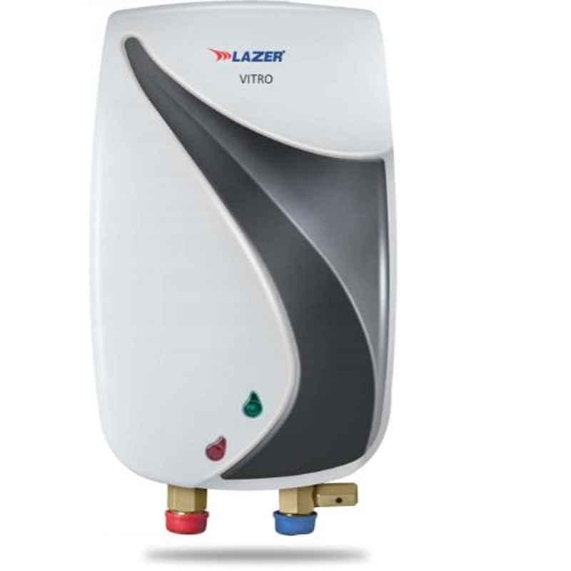 Lazer Vitro 3000W 1L White & Metallic Grey Electric Instant Water Heater
