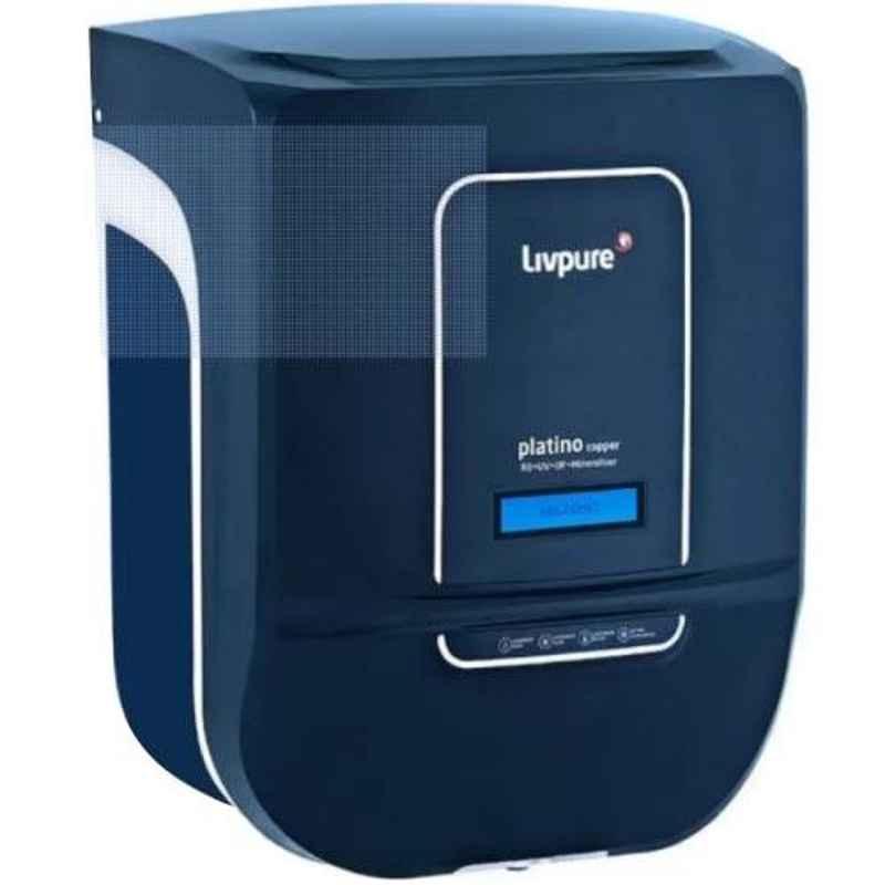 Livpure Platino+ Copper RO+UF+UV+Minaralizer, Touch, UV in Tank, Cooper and 70% recovery
