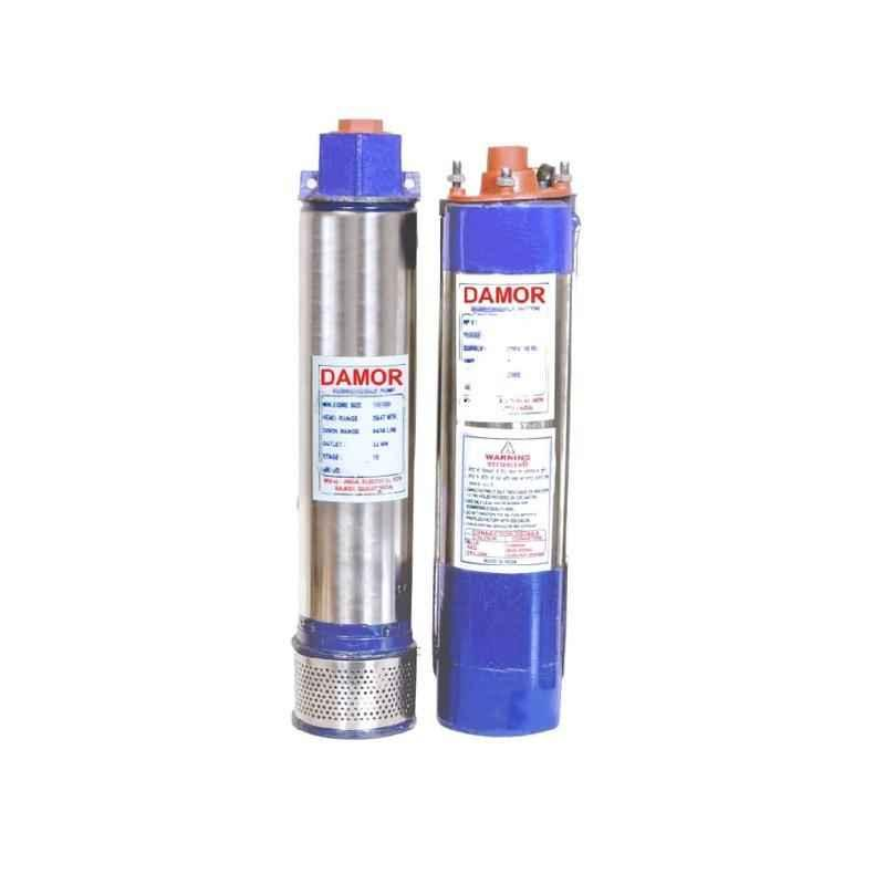 Damor 1 HP 4 inch Borewell Oil Filled Submersible Pump, Borewell Upto 102 ft