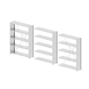 Godrej Altius Lite 1000x400x2200mm Steel Light Grey Storage Rack with 5 Layers (Pack of 3)