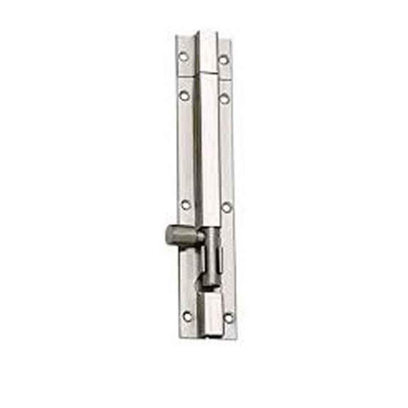 Nixnine 8 inch Stainless Steel Tower Bolt Security Door Latch Lock, SS_LTH_A-511_8IN_1PS