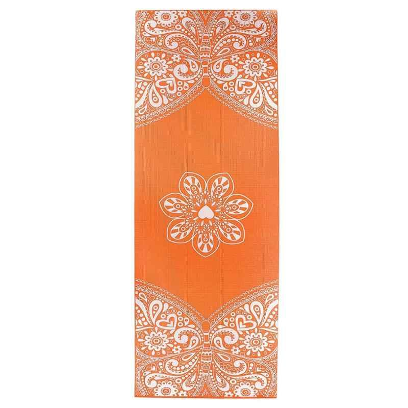 Strauss 1730x610x5mm Orange Meditation Butterfly Yoga Mat with Cover, ST-1413