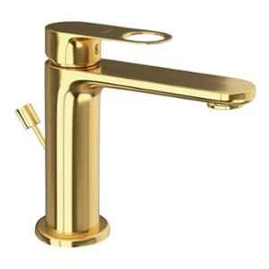 Jaquar Ornamix Prime Full Gold Single Lever Basin Mixer with 450mm Braided Hose, ORP-GLD-10051BPM