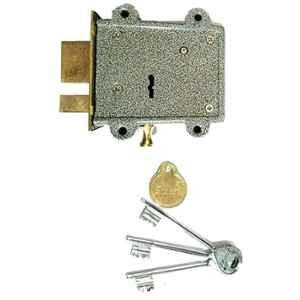 Smart Shophar 5 inch Brass & Steel Brown Delux Main Door Dead Lock, SLK81MD-DELX-3KBR-P1