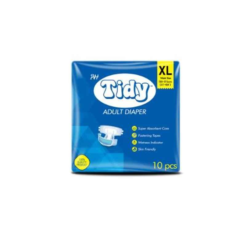 Tidy 30 Pcs 130-175cm Extra Large Adult Diapers, TAD-EXL-3 (Pack of 3)