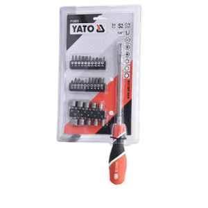 Yato 31 Pcs Red & Black Flexible Screwdriver with MultiBit Set, YT-25972