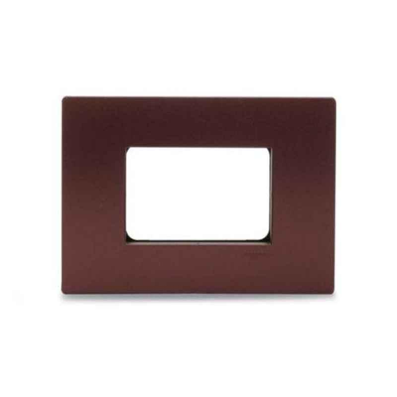 Schneider Opale 3 Module Universal Mulberry Red Universal Grid & Cover Plate, X0733_MR (Pack of 10)