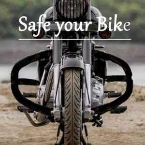 Otoroys OTO-8BAND Rod Bike Rear Leg Guard Back Side Safety Crash Bar with Compatible Rope