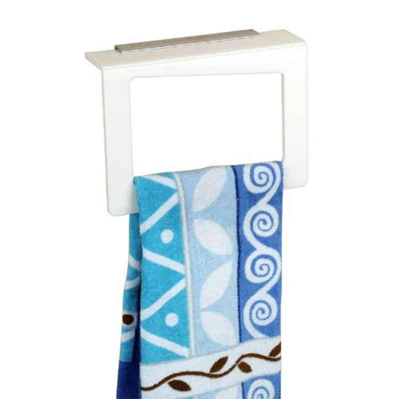 Axtry 8 inch Wall Mounted Acrylic White Square Shaped Towel Holder