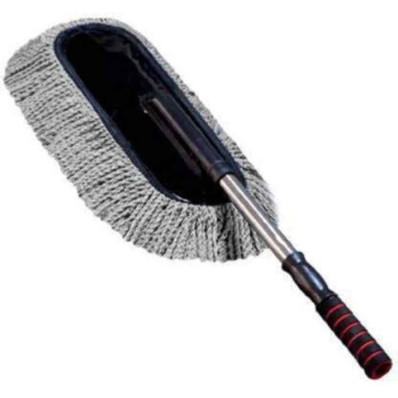 Viva City Black & Grey Microfiber Car Cleaning Duster with Grip Extendable Handle