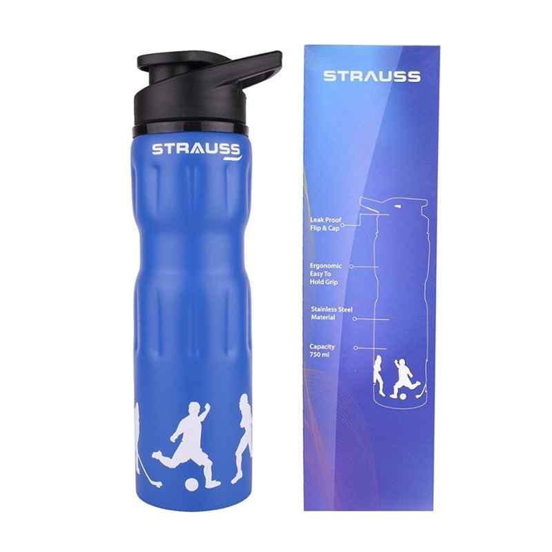Strauss Steel 750ml Blue Water Bottle, ST-1218