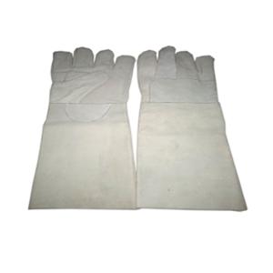 SRJ Leather Heat Resistance Safety Hand Gloves (Pack of 10)