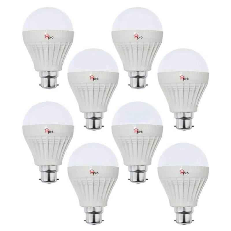 Homepro 12W B22 White LED Bulbs (Pack of 8)