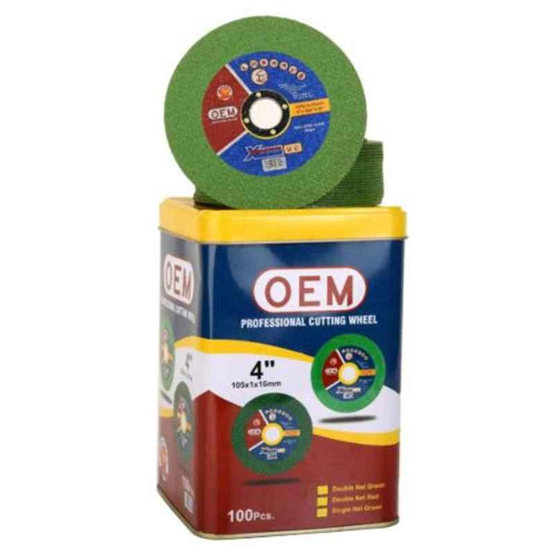 OEM 4 inch Green Single Net Cut-Off Wheel (Pack of 100)