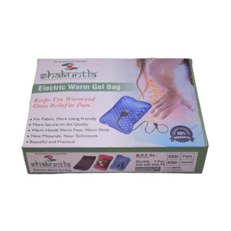 Shakuntla PVC Velvet Fabric Brown Pocket Type Electrothermal and Electric Gel Heating Bag
