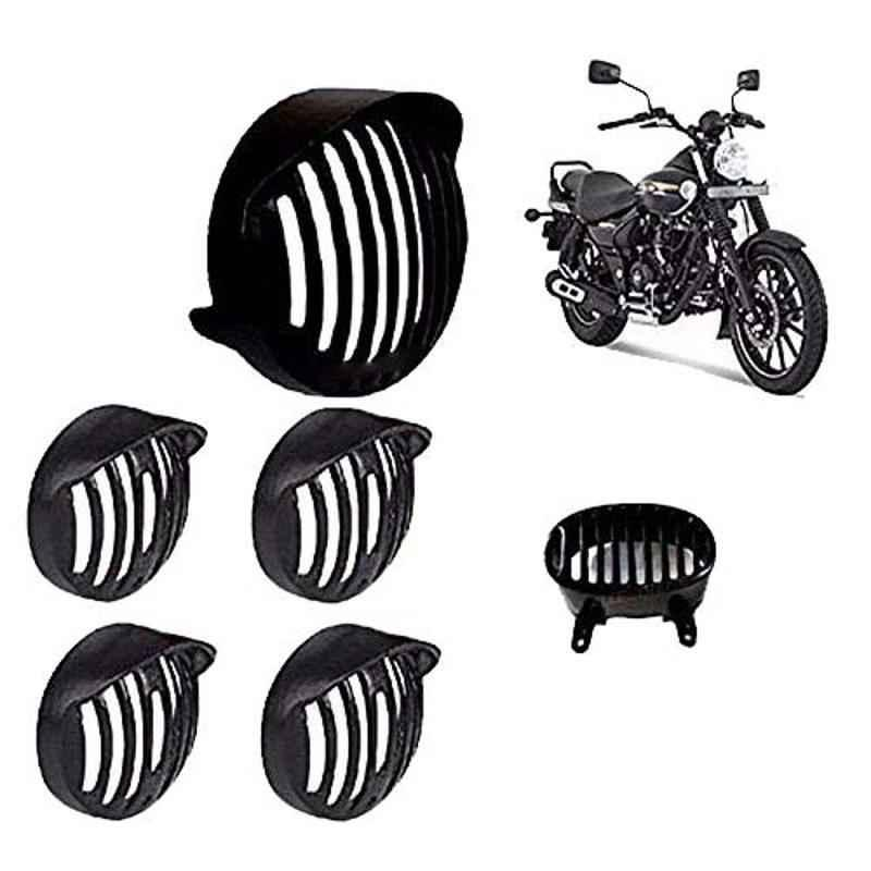 AllExtreme Heavy Duty Headlight Grill Cap for Indicator, Tail & Back Light Grill Set with Screws