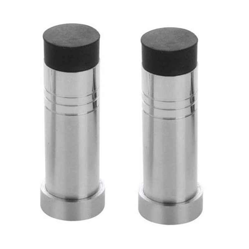 Nixnine Stainless Steel Back Silencer Door Stopper with Rubber Pad, SS_HVY_A-614_2PS (Pack of 2)