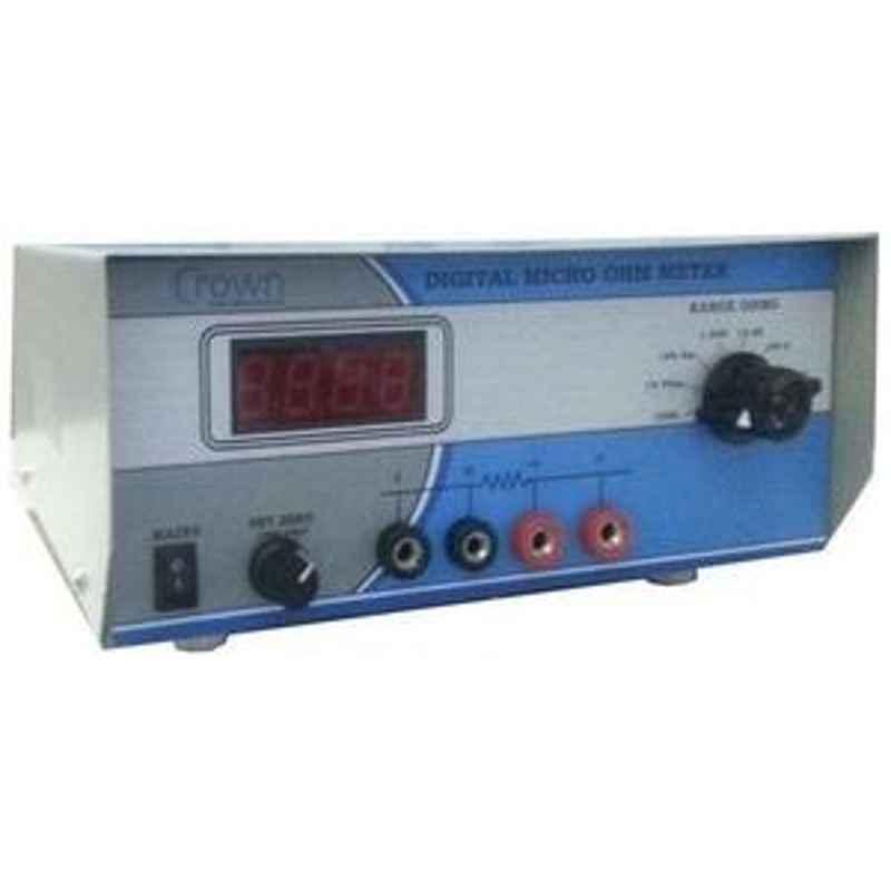 Crown CES 53C Digital Micro Ohm Meter Range 1µ to 19.99 K Ohm