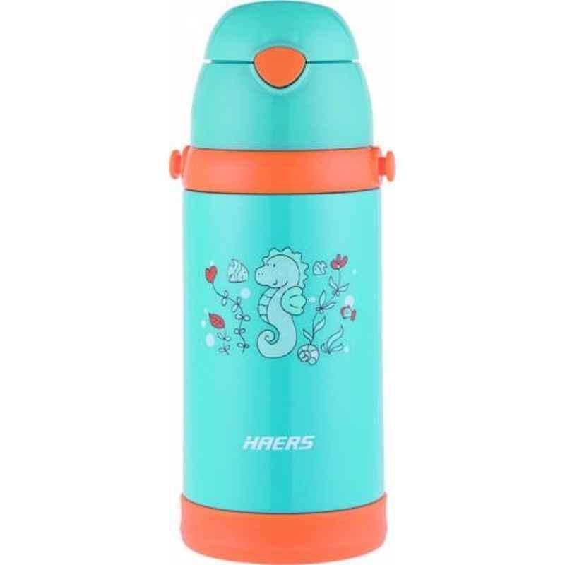 Haers 500ml Stainless Steel Blue Kids Bottle, HX-500-11-BLU