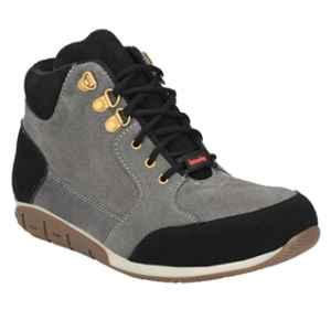 Kavacha S83 Leather Steel Toe Grey Safety Shoes, Size: 10