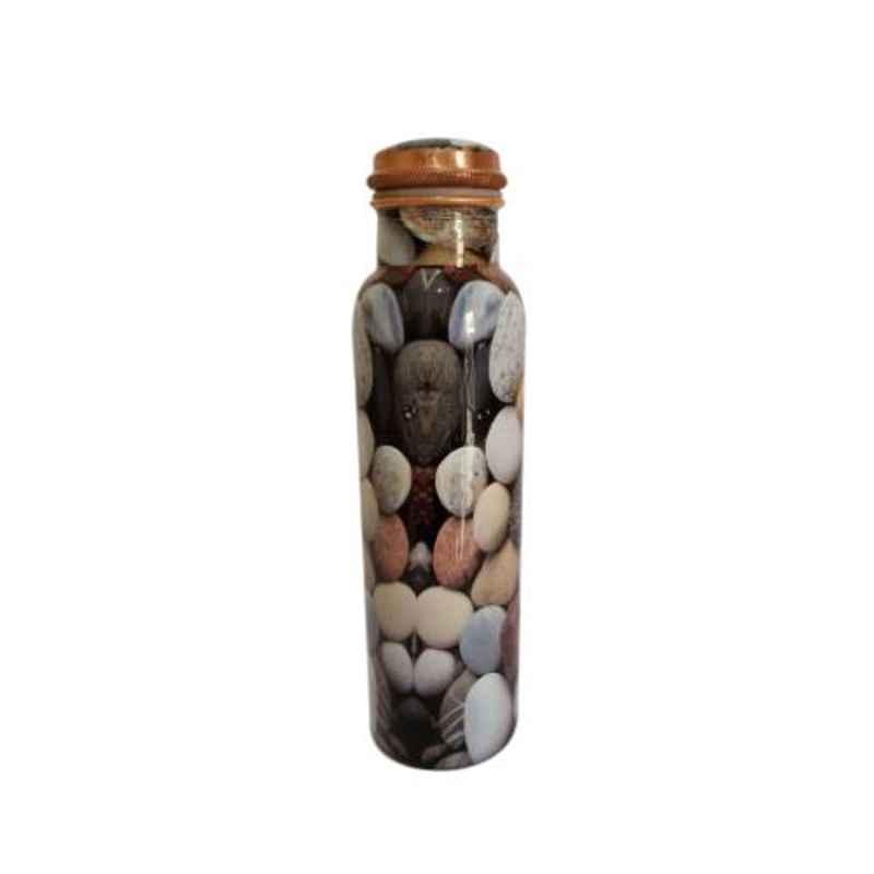Healthchoice 1000ml Copper Stone Printed Water Bottle