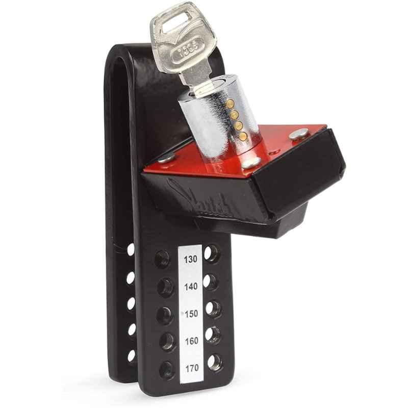 Yarich Mild Steel Black & Red Antitheft Clutch Lock for Car