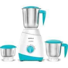 Havells Aspro 500W White & Light Blue Juicer Mixer Grinder with 3 Jars, GHFMGAZB050