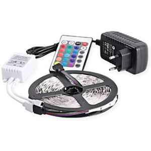 EGK 4m 16 Colour RGB Waterproof LED Strip Light with Adaptor & Remote Control, EGKSLRGB