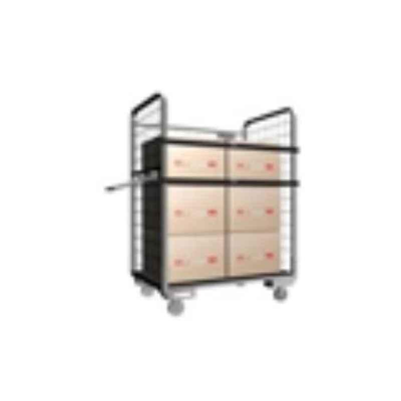 Suwas 1000x750x1700mm 600kg Steel Material Handling Cage Box Trolley, SU-MHCT-002