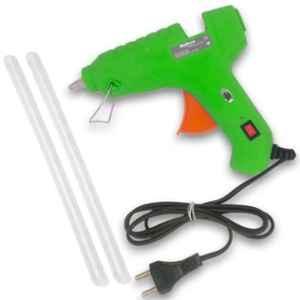 Walkers 40W Green Hot High Temperature Gum Glue Gun with 2 Pcs Hot Melt Glue Stick Set, WK0001