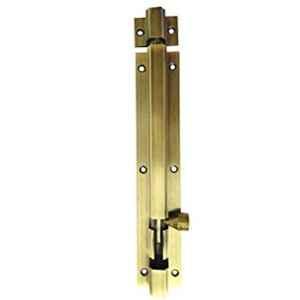 Smart Shophar 4 inch Brass Antique Hex Tower Bolt, SHA10TW-HEX-AN04-P1