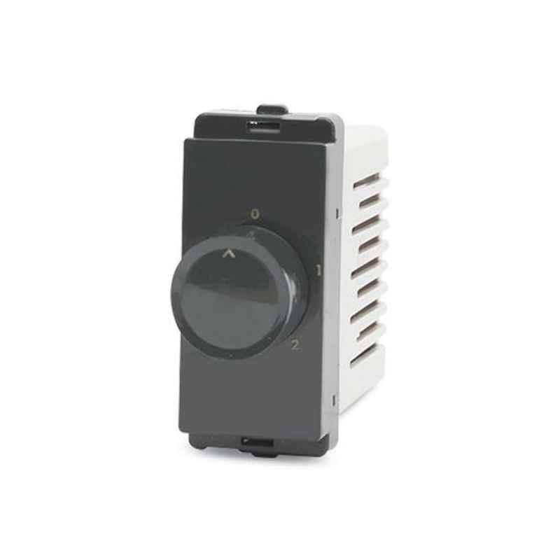 Schneider Livia 1 Module Pebble Grey Step Type Fan Regulator, P3100_DG (Pack of 10)