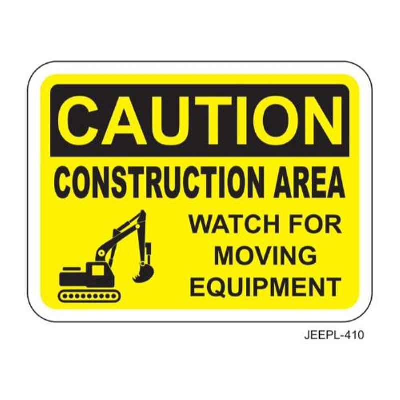 Jeepl Caution Construction Area Sticker, jeepl-410