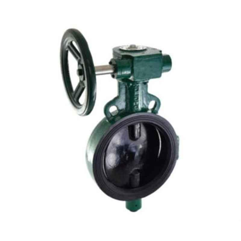 Zoloto 300mm Gear Operated Wafer Type PN 1.6 Butterfly Valve with S.G. Iron Disc, 1078A