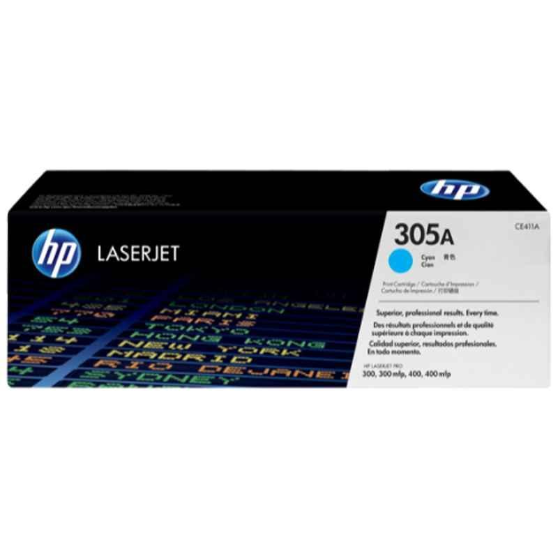 HP 305A Cyan Original Laserjet Toner Cartridge, CE411A