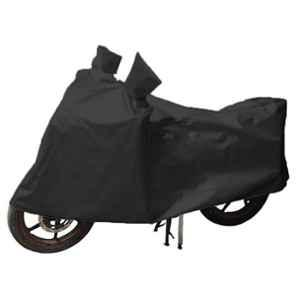 Love4Ride Black Two Wheeler Cover for TVS Victor GLX