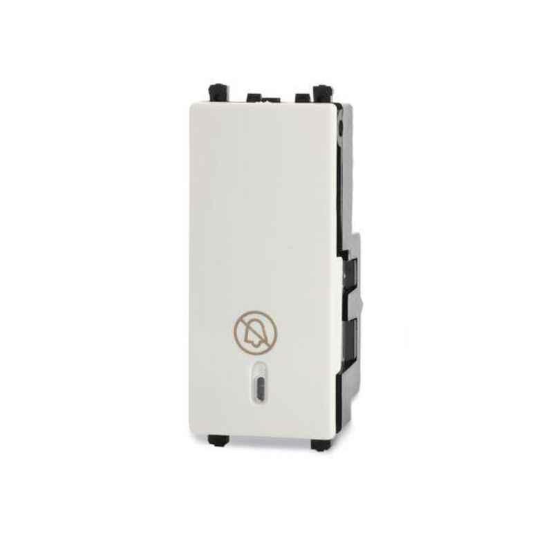 Schneider Zencelo White Full-Flat Illuminated DND Switch, INH8452 (Pack of 10)