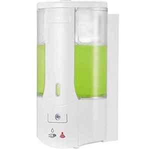 Drizzle Oval 500ml Plastic White Automatic Sensor Operated Liquid Soap Dispenser, AOVALSENSORSOAP