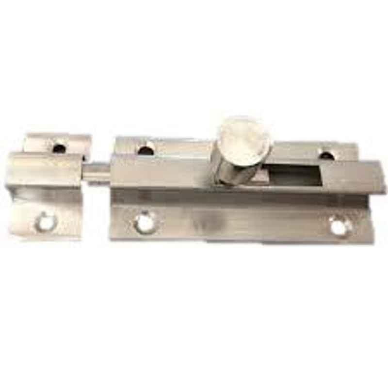 Nixnine 4 inch Stainless Steel Heavy Duty Tower Bolt Door Latch Lock, SS_LTH_A-531_4IN_1PS