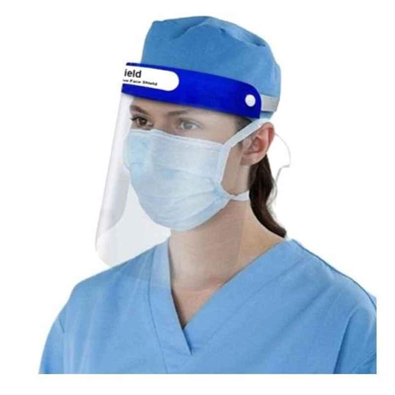 Oriley ORFS01 Transparent Adjustable Disposable Face Shield with Elastic Strap, Anti-Splash & Full Visor