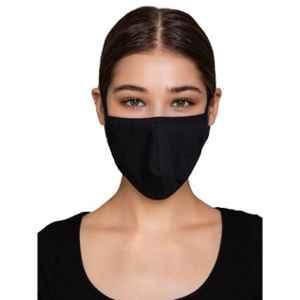 Clovia MASK24P13 3 Ply Washable Black Face Mask (Pack of 10)