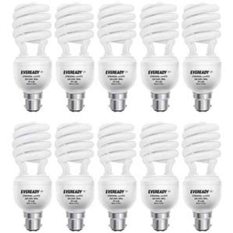 Eveready 27W Spiral 10pcs White CFL Bulb