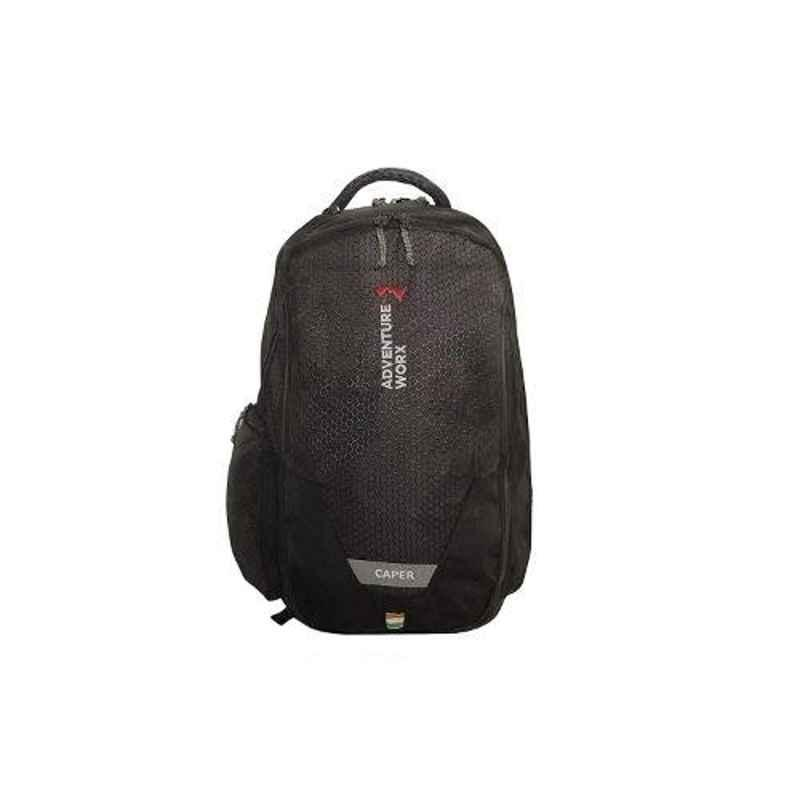 Adventure Worx Caper 24L Polyester Black Laptop Backpack with AWT Technology